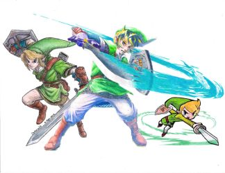 The Legend Of Zelda - Links (Scan) by Opheroth