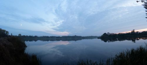 Lake at Sunset by IndifferentEngineer