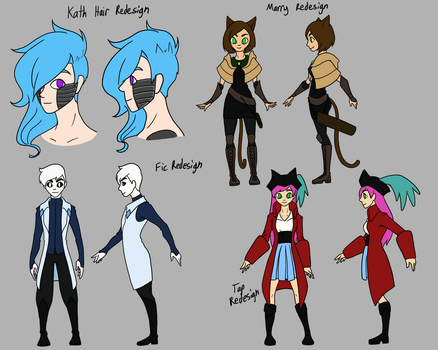 Midromeda Character Redesigns by SeikoloveyCakes