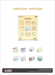 Mobile icons Sketch Style by iCanUI