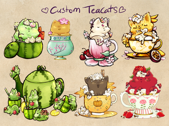 - Custom Teacats - by scribblin