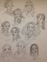 Hogwarts Ladies  by Qballthe5th