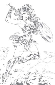 Wonder Woman pencils by Elias-Chatzoudis
