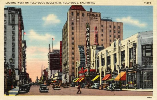 Vintage Los Angeles - Pantages Theatre, Hollywood by Yesterdays-Paper
