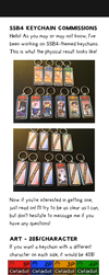 SSB4 keychain commissions by ClefdeSoll