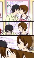 KyoyaXHaruhi-Comic Copy Kiss by SisterStories