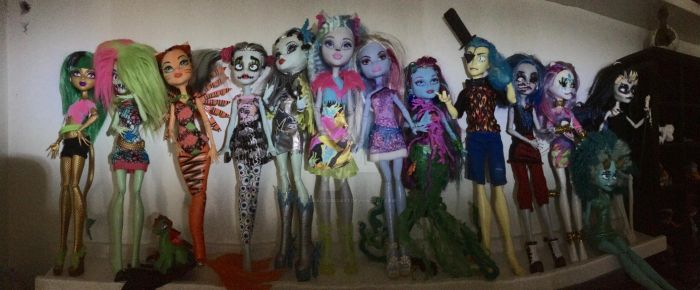 (Almost) My Entire Monster High Collection!!! by dracosbadart