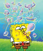 SpongeBob BlowingBubbles Final by shermcohen