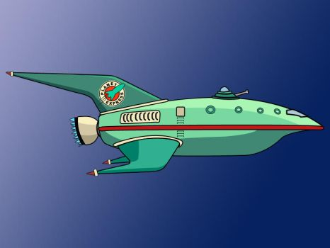 The Planet Express Ship by gasclown