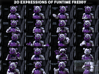 20 Expressions Of Funtime Freddy by Fer-Ge