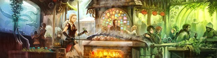 Water-Dragons cooking place by Deevad
