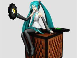 Hatsune Miku plays Minecraft by halley
