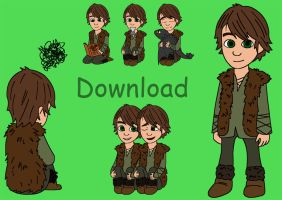 HTTYD Hiccup - Shimeji by Sherlockian