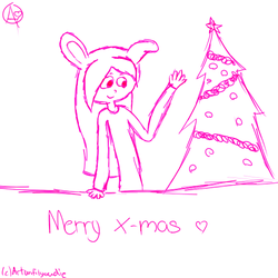 Merry Christmas + Tablet Pactice by ArtUntilYouDie