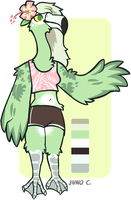 anthro flamingo design by californiacoyote