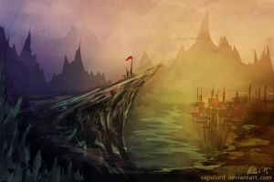 Landscape- Practise 2 Speedpaint #2 by Vapolord