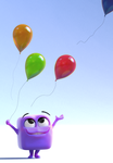 Zbrush Doodle: Day 1265 - Violet Cube's Balloons by UnexpectedToy