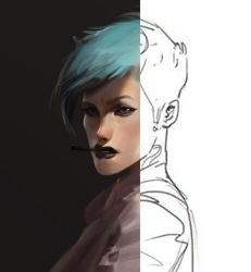 Line to Color FACE COLORED MORE by Robotpencil