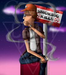 King of the hill - Dale Gribble smoke by Championx91