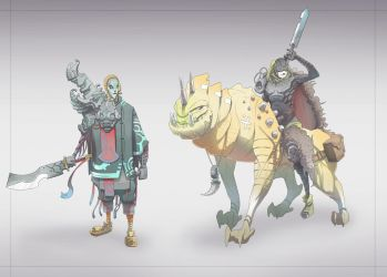 Character Concepts : Twili Warrior / Beast Hunter by BrotherBaston