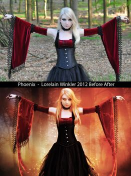 Phoenix Before - After by LorelainW