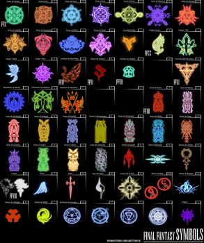 Final Fantasy Symbols by hechiceroo