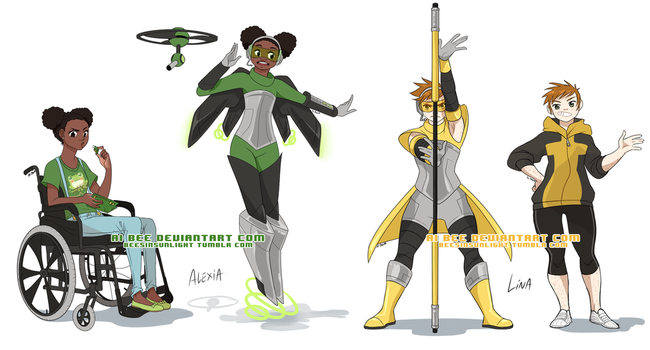 Comm - Alexia and Lina Character Designs by Beedalee-Art