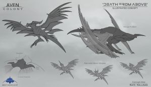 Death from Above Alien by NateHallinanArt