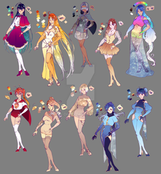 Universe and Co - 2018 designs by rika-dono