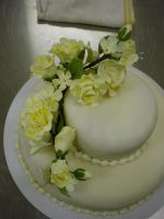 Fondant Wedding Cake by Heidilu22