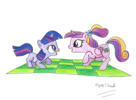 Filly Twilight and Cadance Mk2 by UlyssesGrant
