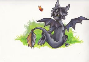 Toothless by penguinfaery