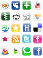 Social Bookmarking Web icons by seostar