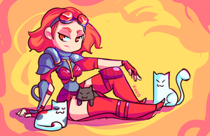 Chandra and Cats by Xuco