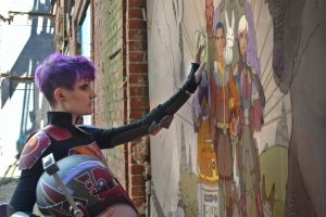 Epilogue Sabine Wren with painting by mblackburn