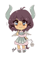 Quick Chibi comm for Mima by Yu-Tanni