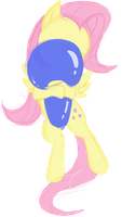 Balloon Month: Squeaky-Hug Fluttershy by Retl