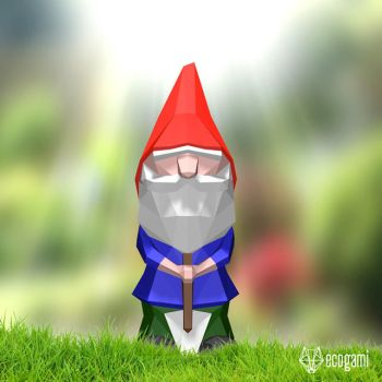 Make your own paper garden gnome by EcogamiShop