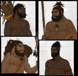Humans of Paleolithic Iberia (WIP) by D-Juan