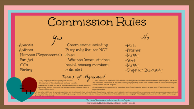 Commission Rules by ReganGeeksOut
