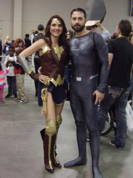 Wonder Woman and Superman by Shulkie