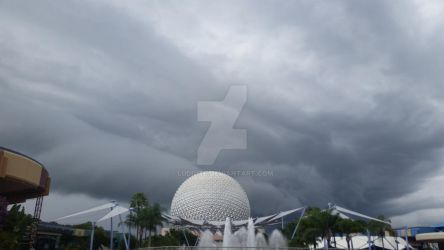 Stormclouds over Epcot by ludd1te