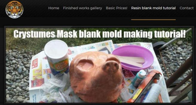 Resin blank mask mold making tutorial! by Crystumes