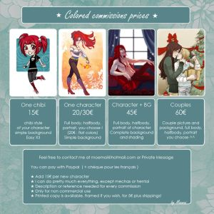 Digital Commissions : CLOSED by Moemai