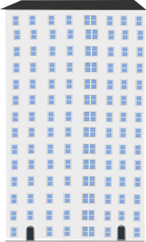 Apartment building3 by OceanRailroader