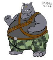 Rocksteady from TMNT by HIJOKEtheDragon