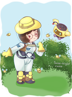 Smol Art - Beekeeper Mei by Tanza-Night