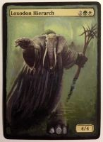 Loxodon Hierarch - MTG hand painted alter by b-o-m-p