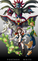 Pokemon White Party - Unova by StartistMakesArt
