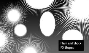 Flash and Shock - PS shapes by screentones